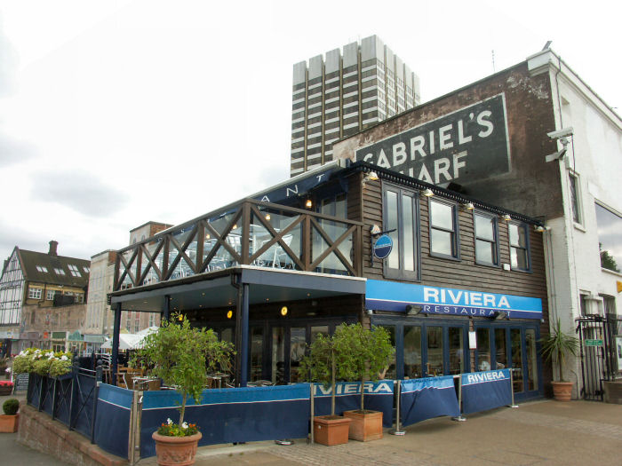 Riviera gabriels wharf london for The balcony restaurant