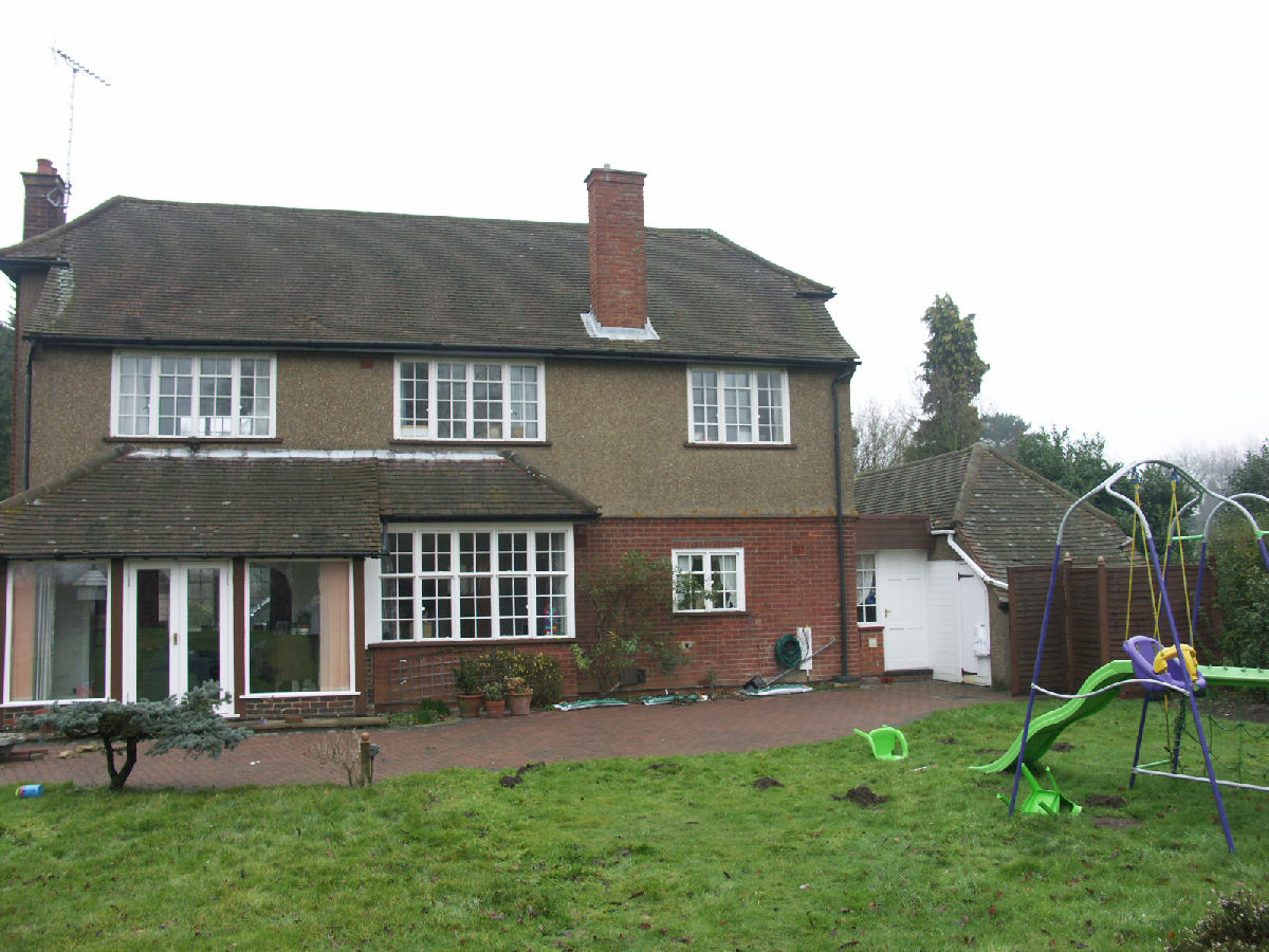 Front Elevation Before And After : Vicarage lane